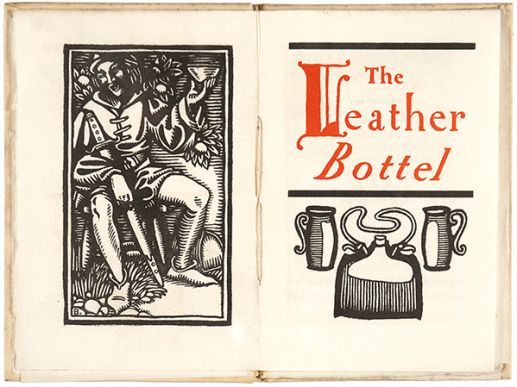 Designed and printed by the Will H. Bradley, The Leather Bottel is a gorgeous little chapbook originally intended as a Christmas gift. We think it would be cherished all year round. £78.