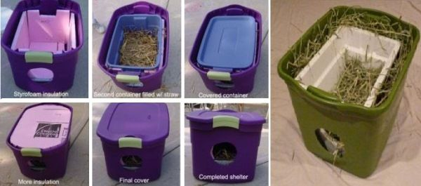 DIY Outdoor Cat Shelters For The Cold Season