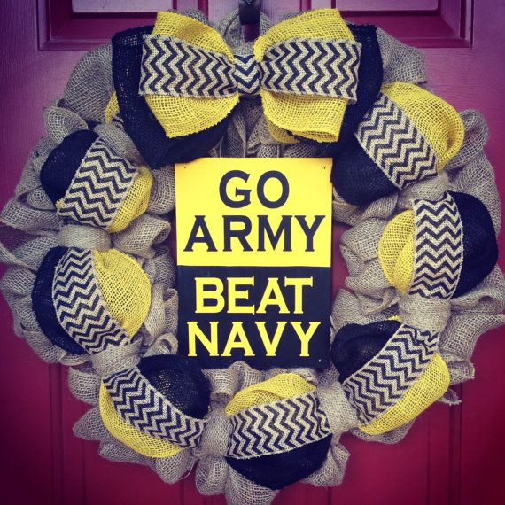 West Point/USMA Go Army Beat Navy Double-Sided Sign Wreath