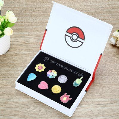 Awesome Pokémon league badges box. #pokemon #badges