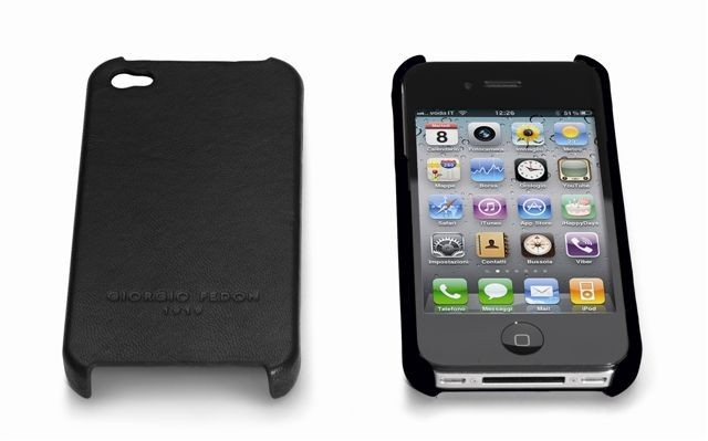Giorgio fedon iphone 4G Hard Case Black Nappa Leather