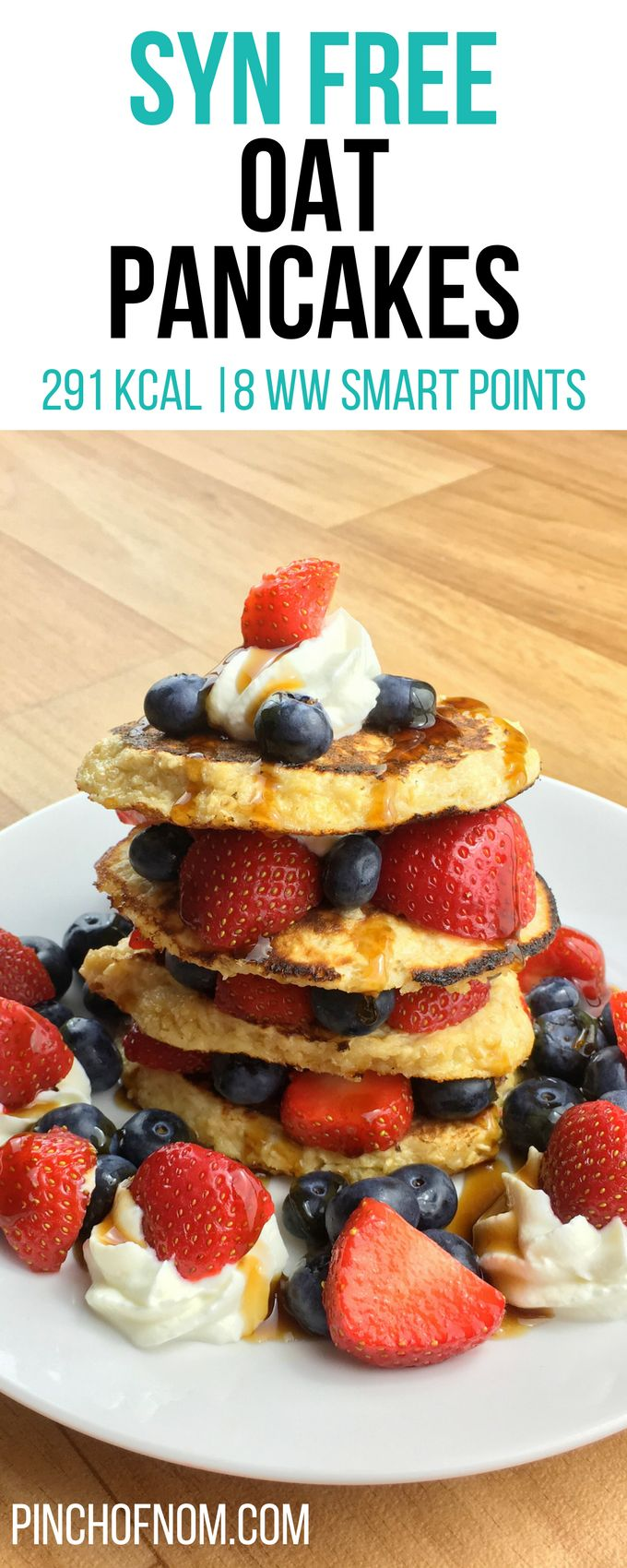 Syn Free Oat Pancakes | Pinch Of Nom Slimming World Recipes 291 kcal | Syn Free | 8 Weight Watchers Smart Points