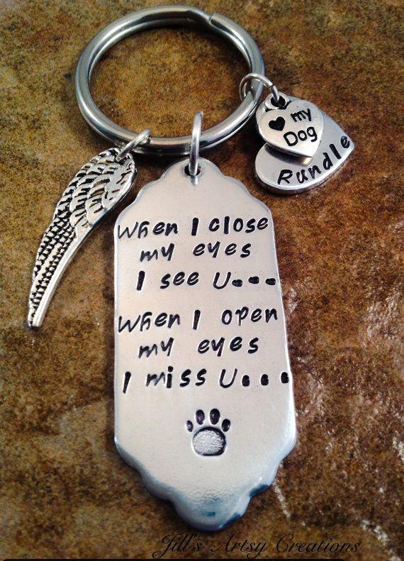 Personalized Pet Loss Keychain In Memory Of by JillsArtsyCreations