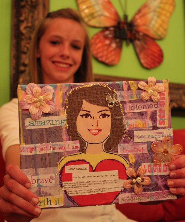 """""""I Am..."""" Canvases -- really awesome idea! This would be a great Young Women activity--especially for a mother or father/daughter bonding night"""