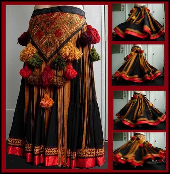 Falda Tribal con cintas