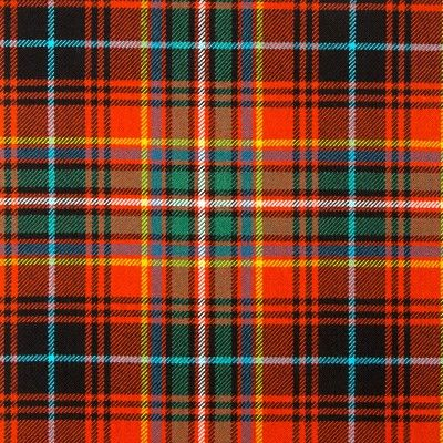 MacInnes Red Ancient Heavy Weight Tartan Fabric-Front