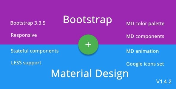 BMD - Bootstrap + Material Design . Version 2 is coming to also support Bootstrap