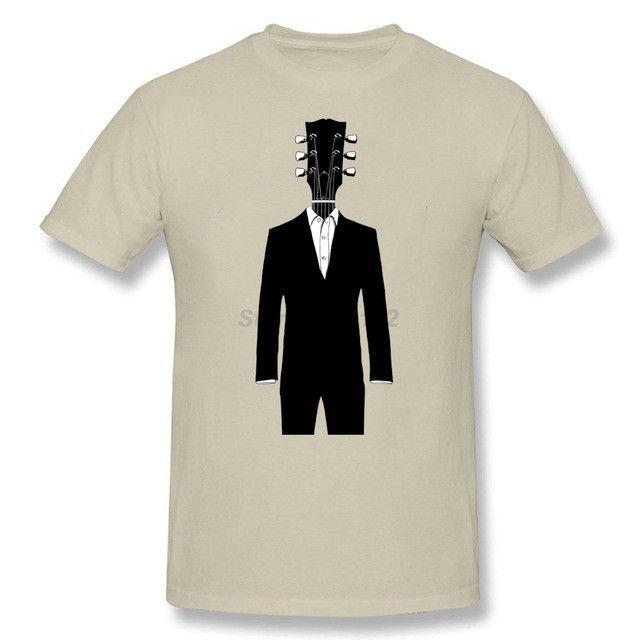 Guitar Head t shirt Music Man Short sleeved