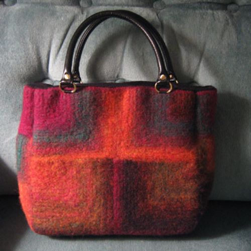 Felted Bag with Mitered Squares pattern by Kristi Porter ...