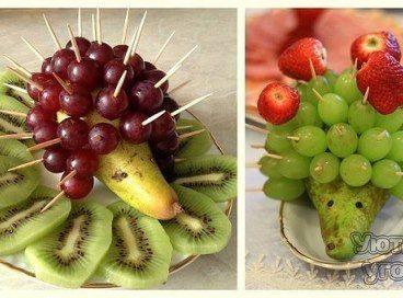 7 необычных поделок из фруктов и овощей