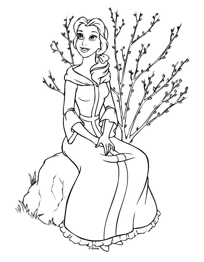 coloriage princesse disney belle