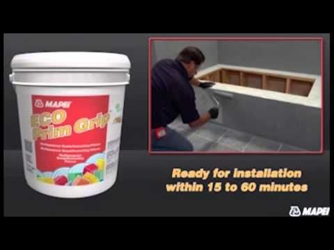 How To Lay Tile Over Tile with Mapei Eco Prim Grip Tile Primer, via Koffler Sales' YouTube Channel. #homerepair #bathroomremodel #diy