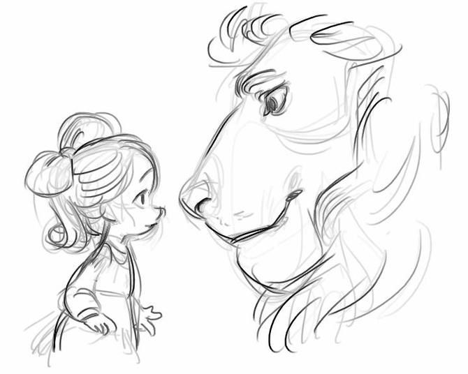Willow Waves' Animation of Aslan and Lucy