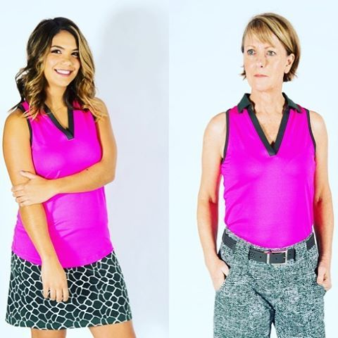 This vibrant JOFIT polo (part of the MOJITO collection) works for all age groups #JOFIT #golf #golffashion #womensfashion #womensgolf