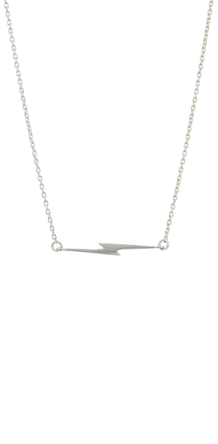 Excitingly electric!  Get a charge out of the visual voltage of this #Shinola #Detroit #Sterling #Silver Simple #Bolt #Chain #Necklace. #lightning #jewelry #necklaces