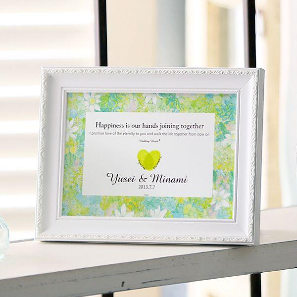 結婚証明書 [ flower box ( フラワーボックス ) ] :教会式や人前式での結婚誓約書(結婚証明書)として、永遠の愛を誓うシーンのために作られたカードです。 一方で、お式を挙げないおふたりも、特別な瞬間を持っていただくことができますので、おすすめです。