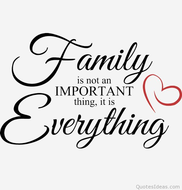 My family is my life and love! I will always protect and