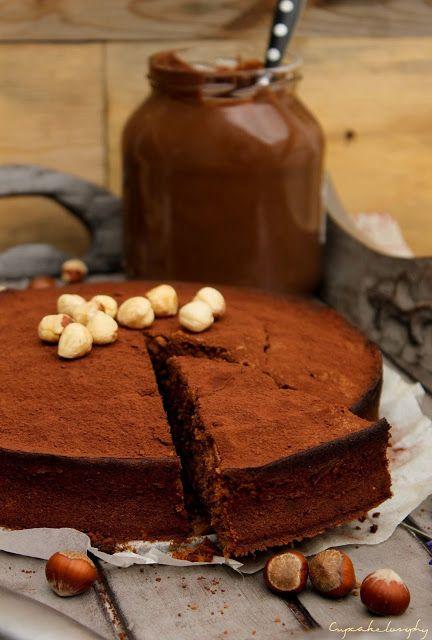 Bizcocho de chocolate con nutella ✭Teresa Restegui http://www.pinterest.com/teretegui/ ✭