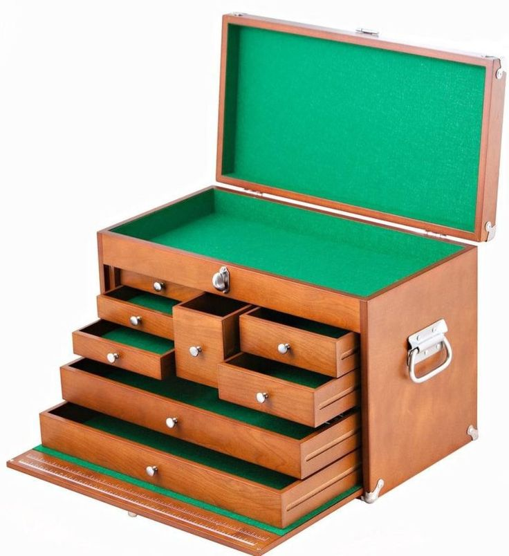 Trinity 21 in. 8-Drawer Wood Sotrage Organizer Portable Tool Box, Brown #Trinity #Drawer #Organizer #Storage #Box #ToolBox