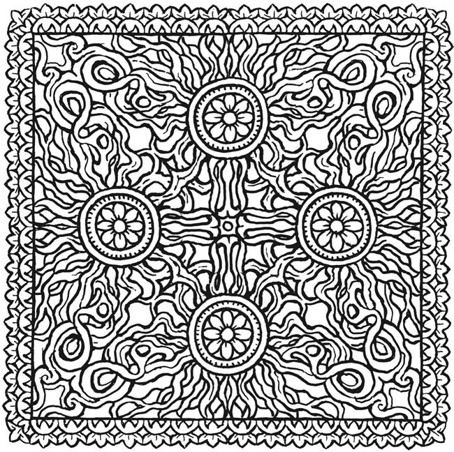 Image result for squares  mandala