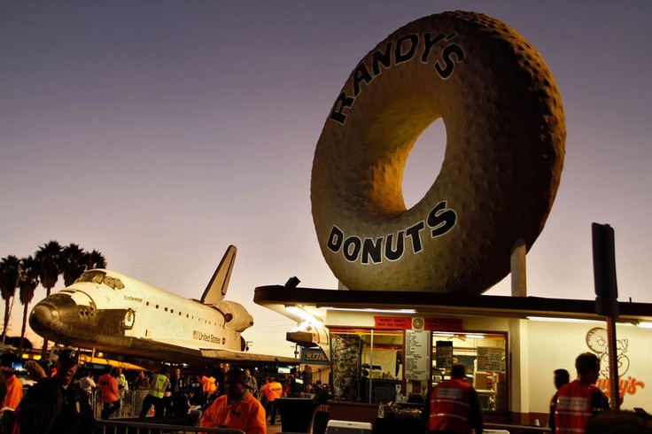 LA Space Shuttle Randy's Donuts: 805 West Manchester Boulevard Inglewood, CA 90301 (310) 645-4707 randys-donuts.com