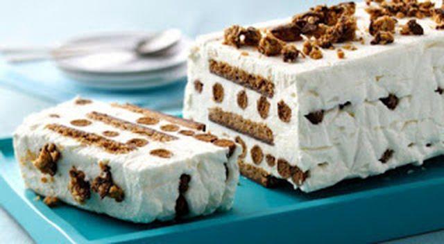 Συνταγή για δροσερή τούρτα παγωτό με μπισκότα