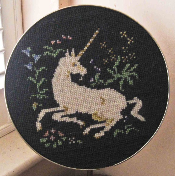 Always cross-stitch yourself. Unless you can cross-stitch a unicorn, then always cross-stitch a unicorn.