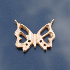 Skeleton Butterfly Steampunk Pendant