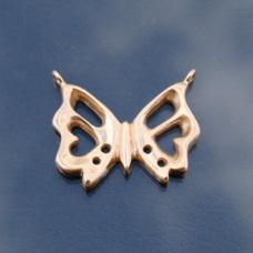 Skeleton Butterfly Steampunk Pendant