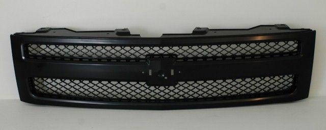2007-2011 Chevrolet Silverado Pickup Grille Black