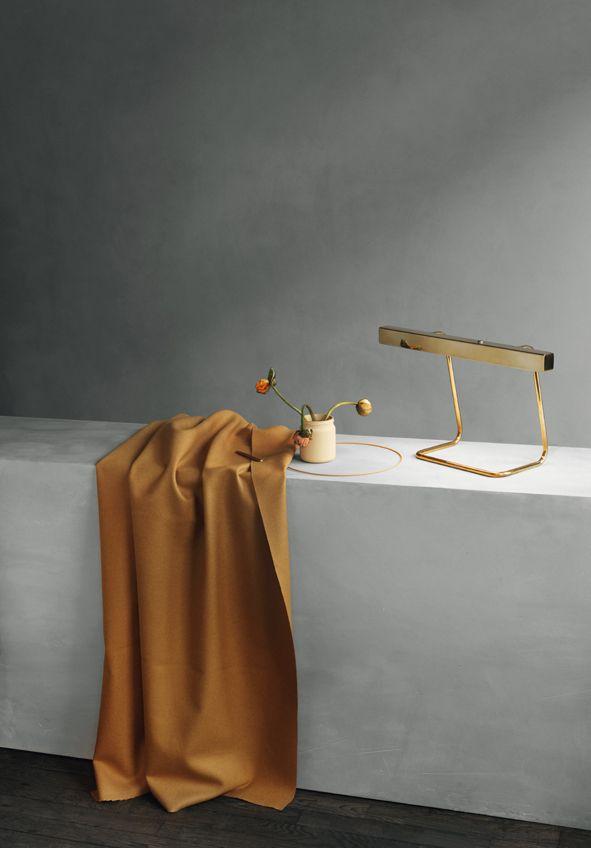 Brass T model desk lamp - Anour at Kinfolk gallery. Copenhagen 2017. Photo: Jeppe Sorensen, Anne Marie Jo. Styling: Kate Wood