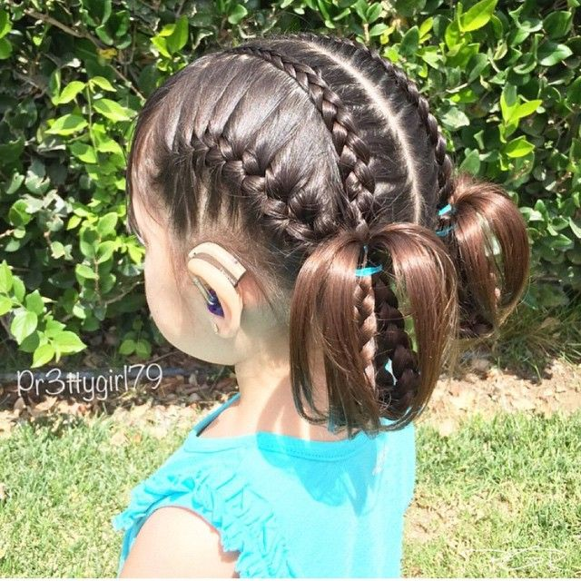 "1,115 Likes, 26 Comments - Little Girl Hairstyles (@braidsforlittlegirls) on Instagram: ""Love this adorable elastic style! Sister braids are so cute! credit @sheerbraidedbliss"""