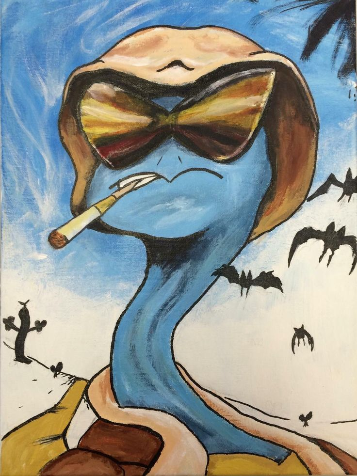 Squirtle S. Thompson in Zubat Country - Artist Bobo Bonger