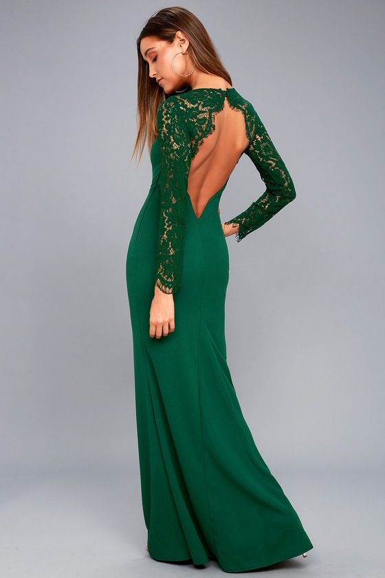 8073ee3c432 The Whenever You Call Forest Green Lace Maxi Dress will always be there for  you when you re in a fashion bind! Lovely