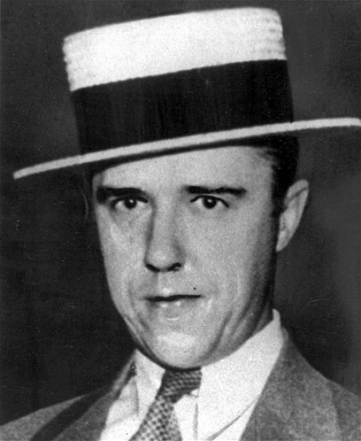 Alvin 'Creepy' Karpis (1907-1979) was given the nickname 'Creepy' due to his smug smile. He met Fred Barker in prison and they formed the Karpis-Barker gang in 1931. The FBI got on their case after they kidnapped a wealthy brewer and a Minnesota banker. Karpis was arrested in New Orleans in 1936. He was the last 'Public Enemy' to be arrested and served the longest time at Alcatraz: 26 years. Creepy!!