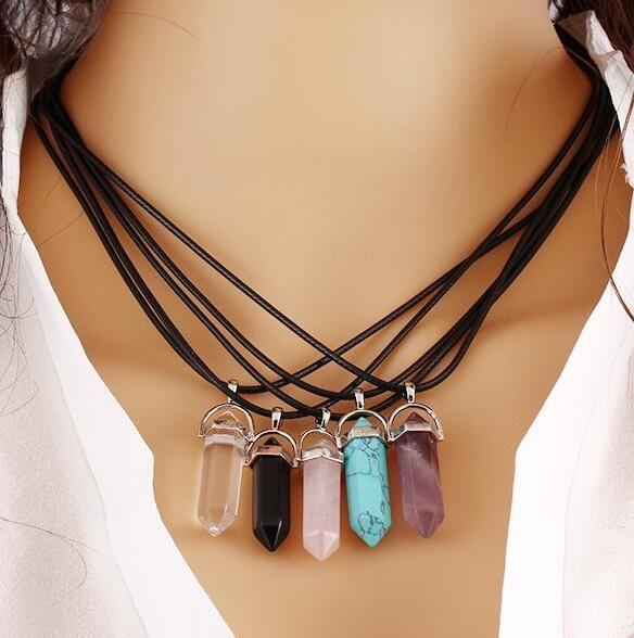 Zeshoekige Hanger Kettingen Hars Turquoise Kleur Lederen Touw voor Hanger Ketting Armband Kraag DIY Sieraden Maken Accessoires
