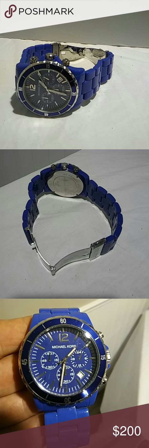 Michael. Kors. Exclusive color Ceramic blue mk watch. Price negoshe Michael Kors Accessories Watches
