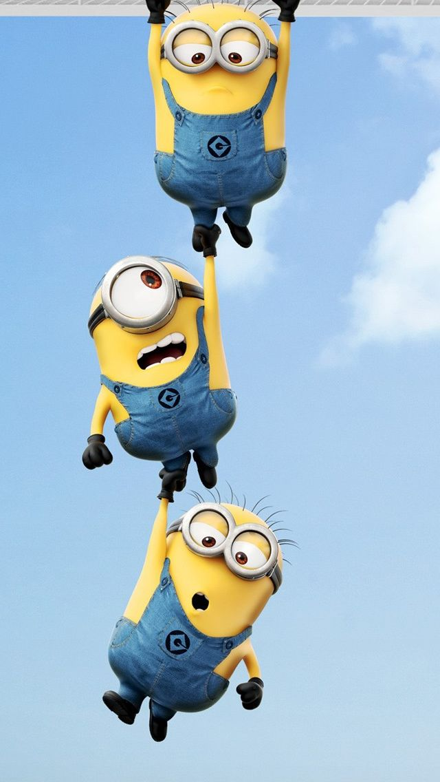 Three Minions - Despicable Me - wallpapers.acidodivertido.com