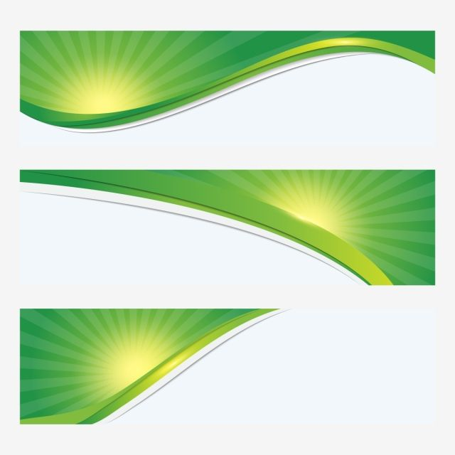 Sunburst With Green Wavy Detailed Banner Sunburst Green Wavy Png And Vector With Transparent Background For Free Download