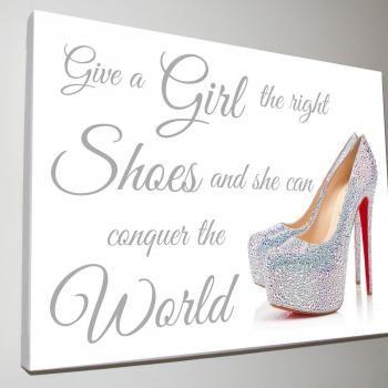 Beautiful shoe canvas