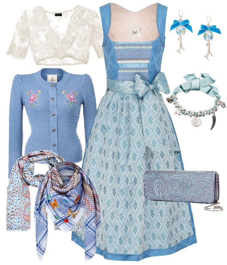 Himmelblaues Outfit für einen traumhaften Auftritt