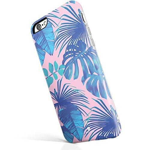 """iPhone 6 6s case for girls Akna New Glamour Series [All New Design] Flexible Soft TPU cover with Fabulous Matte Pattern for both iPhone 6 & iPhone 6s(4.7""""iPhone) [Andaman Beach Palm](3-U.S)"""