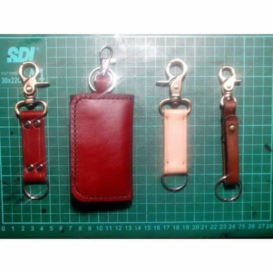 Leather Lanyard Keychain