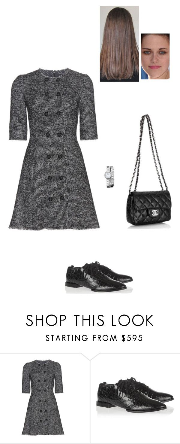 """""""Sem título #7792"""" by gracebeckett ❤ liked on Polyvore featuring Dolce&Gabbana, Alexander Wang, Chanel and Baume & Mercier"""