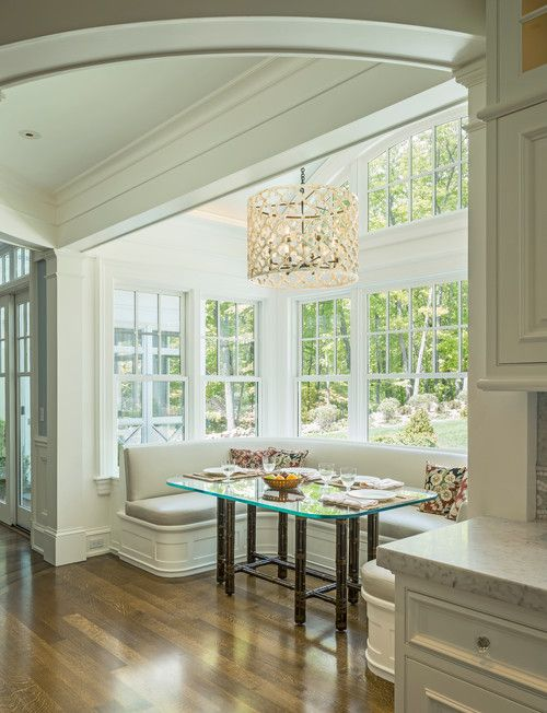 When we build our own home....definitely want a breakfast nook ;) Jan Gleysteen Architects, Boston - Oversized Breakfast Nook