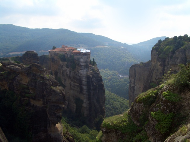 Meteora, Greece, where we visited the monks!!