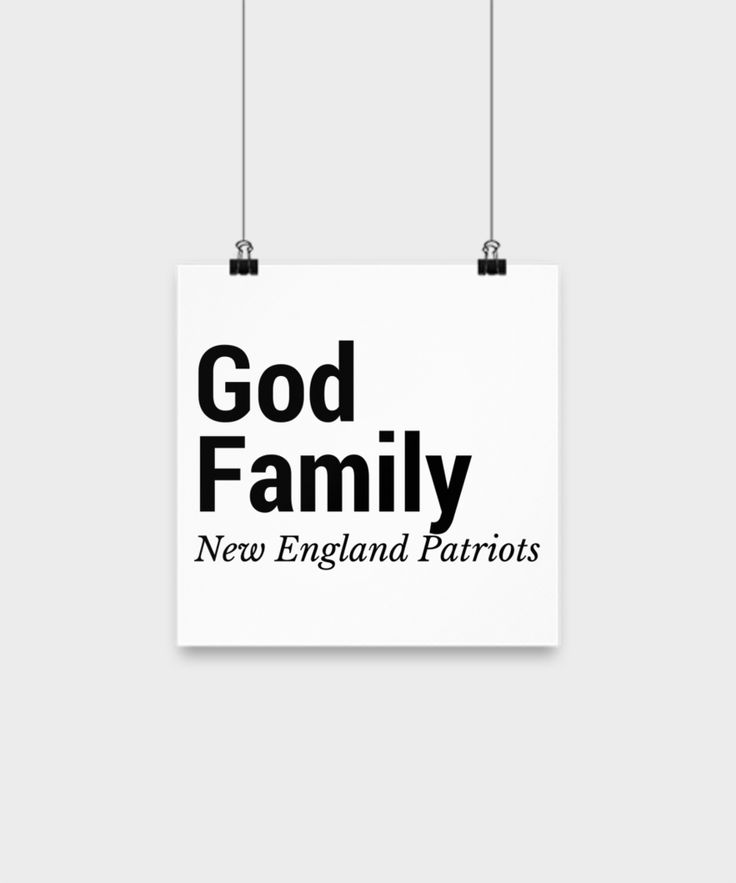 God Family New England Patriots
