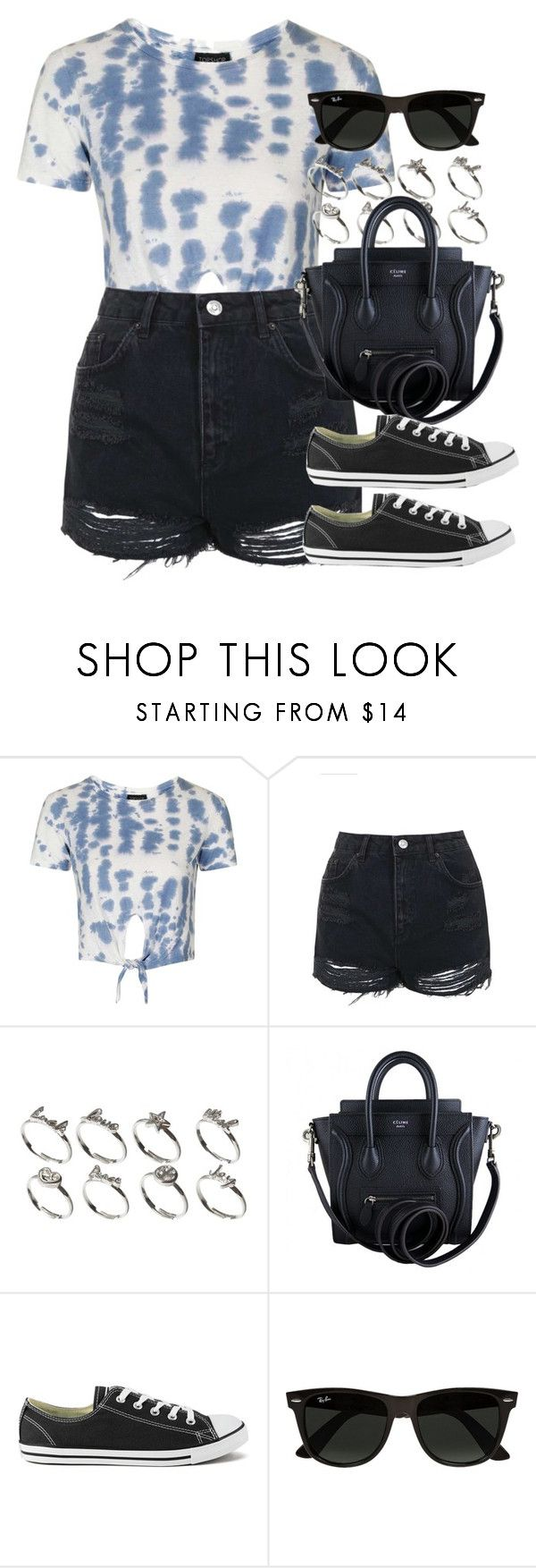 """""""Style #10738"""" by vany-alvarado ❤ liked on Polyvore featuring Topshop, ASOS, CÉLINE, Converse and Ray-Ban"""
