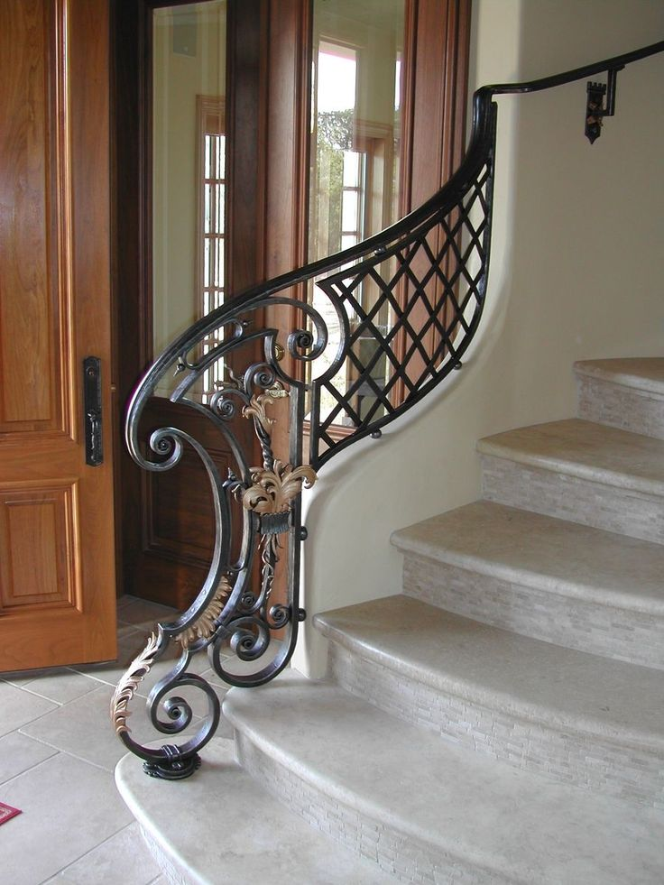 custom made louis xiv style stair railing newel wrought iron