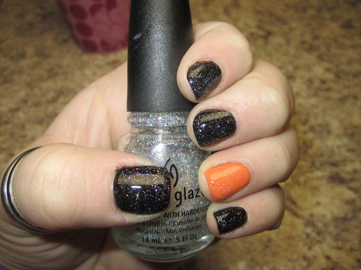 Einfache Halloween Nails Glitter Decklack in China Glaze Fairy Dust.   – Makeup&Nails